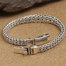 silver weave bracelet images 925 sterling silver fashion jewelry retro thai men weave rope jpg