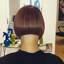 high nape permed haircut short asymmetric bob with tapered nape just napes pinterest