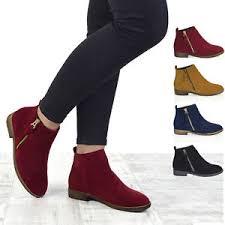 ebay womens ankle boots size 9 womens chelsea block heel biker metal zip flat ankle