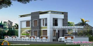 flat roof style house plan kerala home design and floor plans