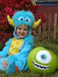 Sully Halloween Costume Infant Baby Sully Halloween Costume Mommy Mike Wazowski