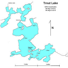 Canada On Map by Trout Lake Walsten Outposts