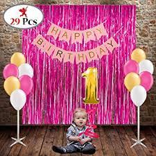 PARTY PROPZ Happy Birthday bo 29 Pcs Girls birthday decoration