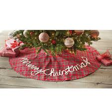 plaid tree skirt mud pie tartan plaid christmas tree skirt reviews wayfair