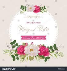 wedding invitation cards flower beautiful white stock vector