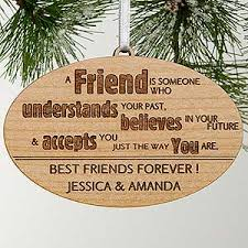 engraved ornaments forever friend