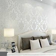 White Rose Bedroom Wallpaper Best 10m Many Colors Luxury Embossed Textured Wallpaper Non Woven