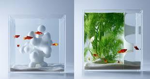designer aquarium minimalist aquariums filled with 3d printed flora by designer