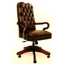 Leather Office Desk Chair Retro Desk Chair Vintage Leather Office Chair Carver Traditional