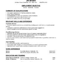 Sample Resume For Bartender by Sample Functional And Summary Of Qualifications And Relevant Skill