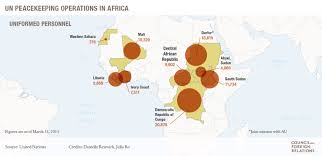 Un Map Peace Operations In Africa Council On Foreign Relations