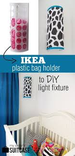 plastic bag holder ikea ikea bag holder to diy light fixture my sister s suitcase