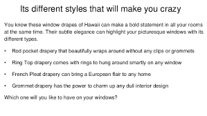 Different Drapery Pleat Styles Drapery Rentals Hawaii So Many Different Styles To Decorate Your Hom U2026