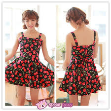 sun dress s m l sweet cherries sundress sp151801 spreepicky online