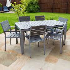 Polywood Outdoor Furniture Reviews by Buy Outdoor Furniture Polywood Dining Table Set 6 Seater At