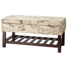 Kinfine Storage Ottoman Storage Ottoman Kinfine Vintage Script Bench With Wood