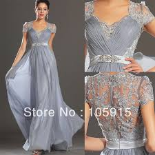 silver grey dresses wedding silver grey ruched floor length evening dress lace