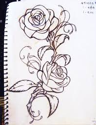 rose vine and pistol tattoos sketch photos pictures and