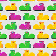 clown graphics 89 clown graphics backgrounds clown shoes seamless pattern multicolored shoes backgroun