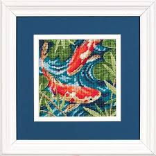 dimensions koi pond needlepoint kit 7214 123stitch