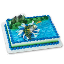 fish cake toppers catching the big one decoset cake decoration toys
