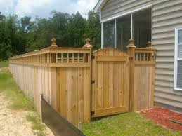 unique privacy fence ideas spindle lattice moss grove fence gate