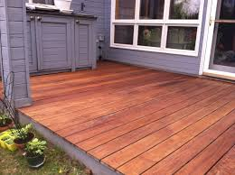 cabot u0027s australian timber oil deck stain in natural on an ipe deck