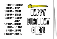 birthday cards for my chef from greeting card universe