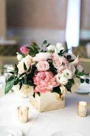 small centerpieces small flower vases centerpieces pink low centerpiece in gold