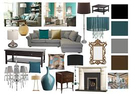 Teal Living Room Decor by Living Room Mood Boards On Behance Living Room Family Room
