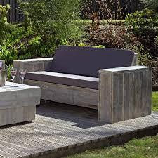 reclaimed wooden scaffold planks outdoor garden sofa scaffa lisbon