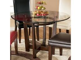 Glass Top Table Signature Design By Ashley Charrell Round Glass Top Table Del