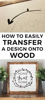 How To Make Carbon Paper At Home - how to easily transfer a design onto wood angela made