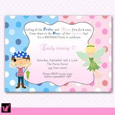 colors stylish printable joint birthday party invitations with