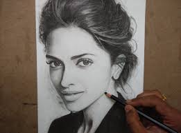 drawing deepika padukone with charcoal pencils timelapse youtube