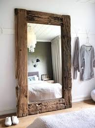 stand alone mirror with lights stand alone mirror mirror framed in large reclaimed boards with