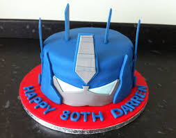 optimus prime cakes birthday cakes sponge