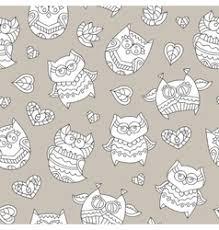 ornamental owls seamless royalty free vector image