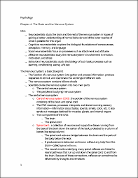 the brain and the nervous system txt notes psychology chapter 4