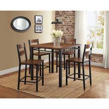 Dining Room Table Counter Height Dorel Living Valerie 3 Piece Counter Height Glass And Metal Dining