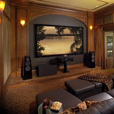 home theater sconces small home theater home theater traditional with brown ottoman
