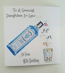 personalised birthday card 40th gin u0026 tonic daughter in law sister