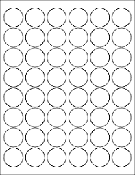 1 Inch Circle Template by Label Templates Ol6000 1 2 Circle Labels Microsoft