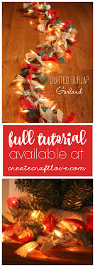 lighted burlap garland for how to createcraftlove