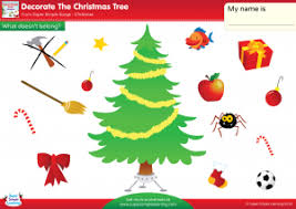 decorate the tree worksheet what doesn t belong
