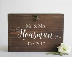 wedding boxes wedding cards box with slot mr mrs established date ss 3