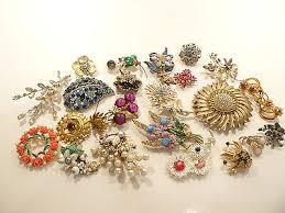 vintage flower enamel brooch lots collection on ebay