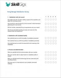 hiring manager satisfaction survey skillgigs