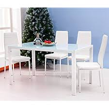 amazon dining table and chairs 4 person dining table regarding amazon com merax 5pc glass top set