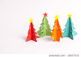 origami christmas tree paper color stock photo 18657335 pixta
